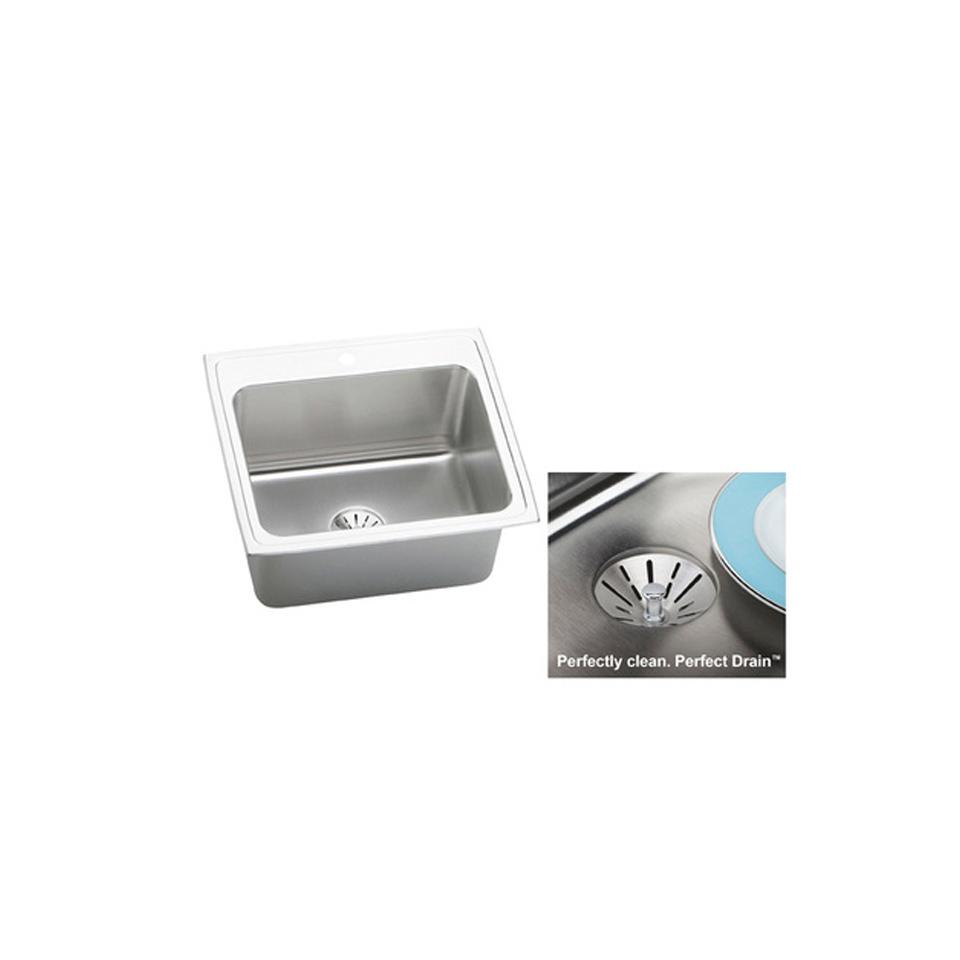 elkay dlr252210pd2 gourmet 22   x 25   single basin drop in stainless steel kitchen sink bath4all   elkay dlr252210pd2 gourmet 22   x 25   single basin drop      rh   bath4all com