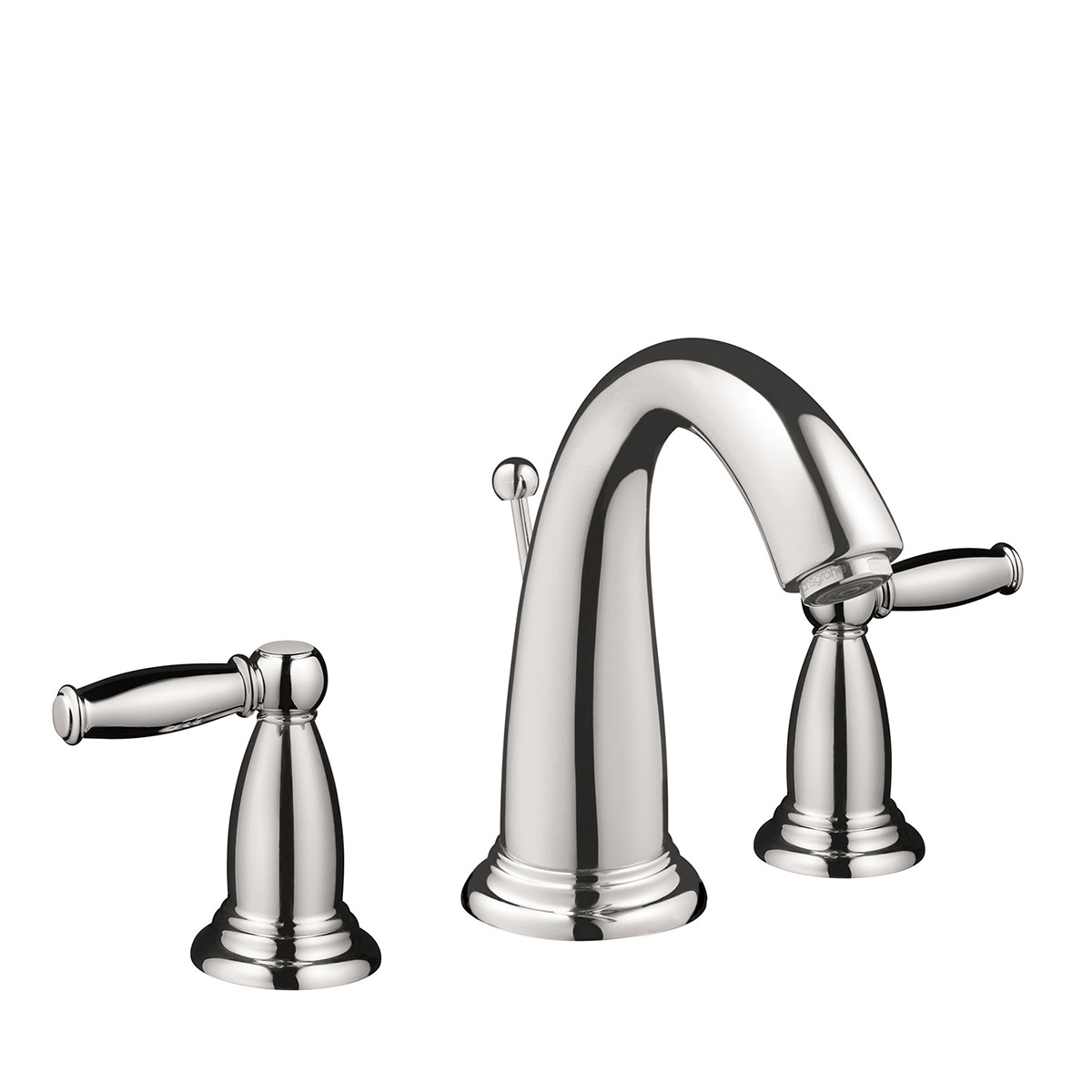 Hansgrohe 06117000 Chrome Swing C Bathroom Faucet Widespread Faucet With  Lever Handles