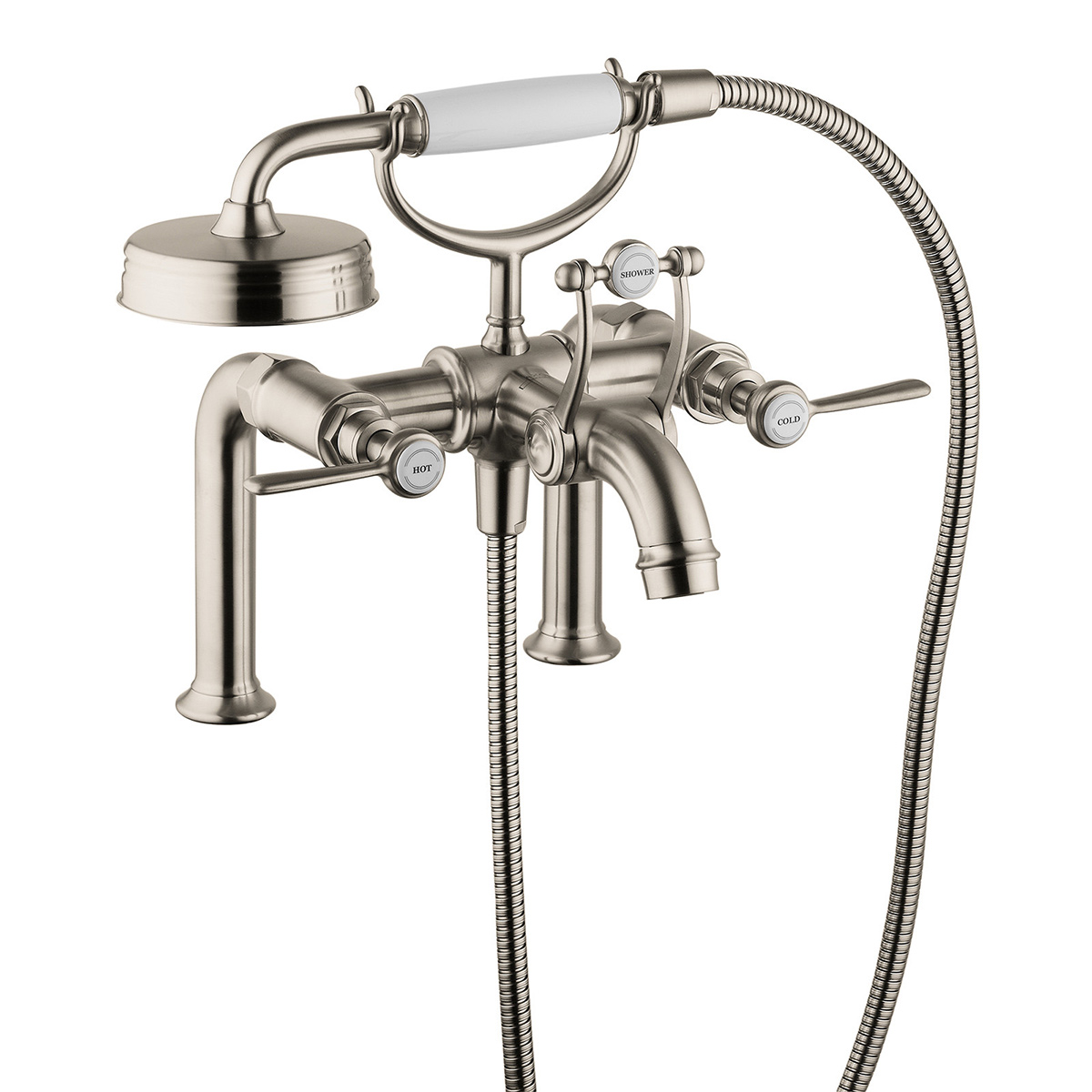 deck mount tub faucet with diverter. Hansgrohe 16552821 Brushed Nickel Axor Montreux Deck Mounted Roman Tub  Faucet Trim With Metal Lever Handles And Built In Diverter Bath4All