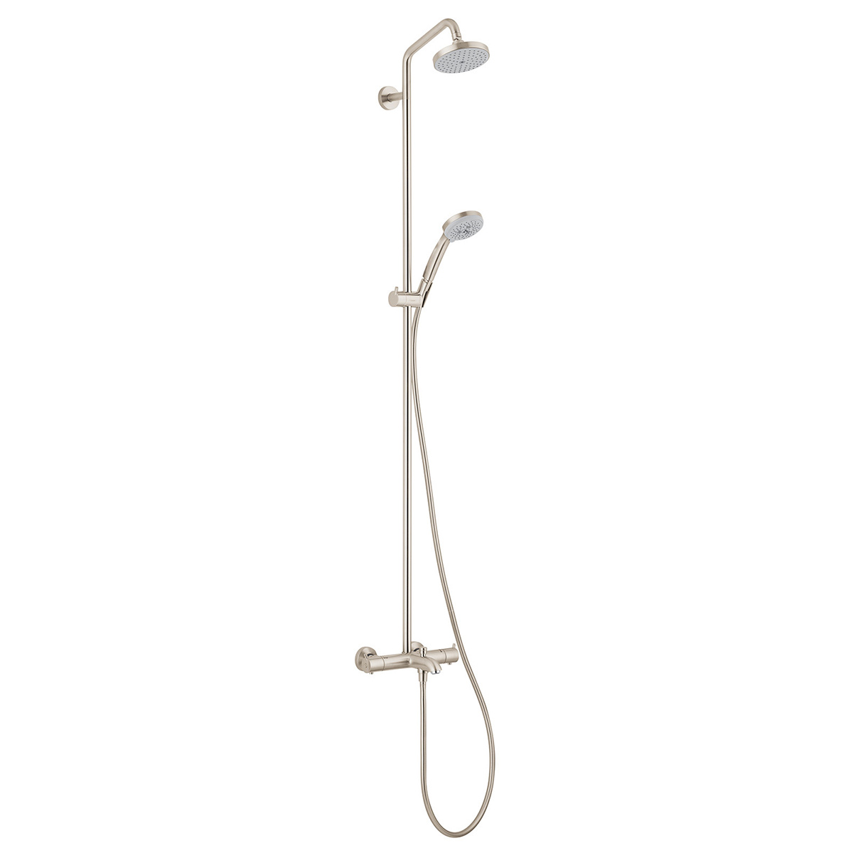 Bath4All - Hansgrohe 27143821 Brushed Nickel Croma Green Showerpipe ...