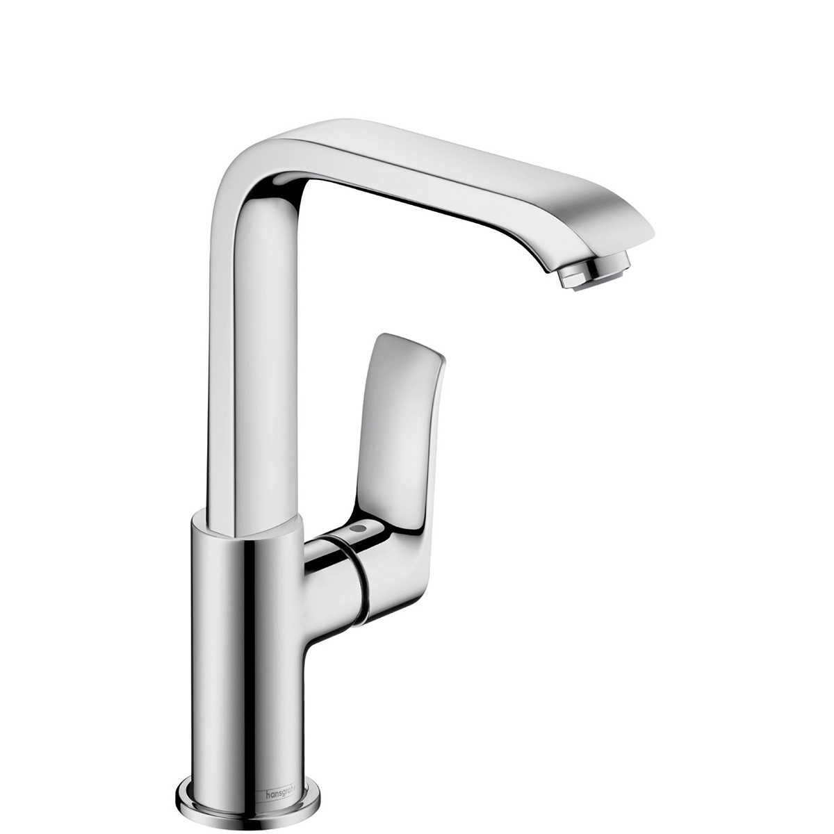 bathroom hansgrohe chrome single faucet faucets with lever hole metris handle c
