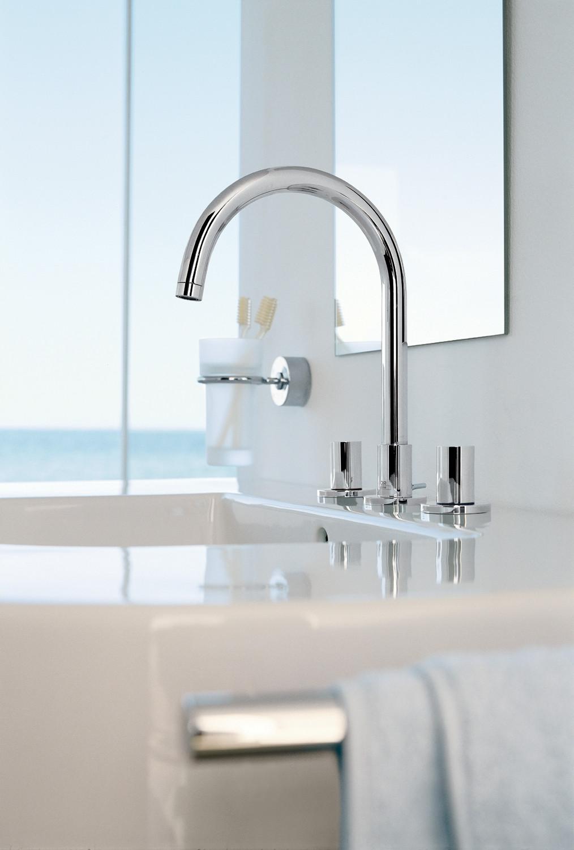 Hansgrohe 38053001 Chrome Axor Uno 2 Bathroom Faucet Widespread Faucet With  Knob Handles