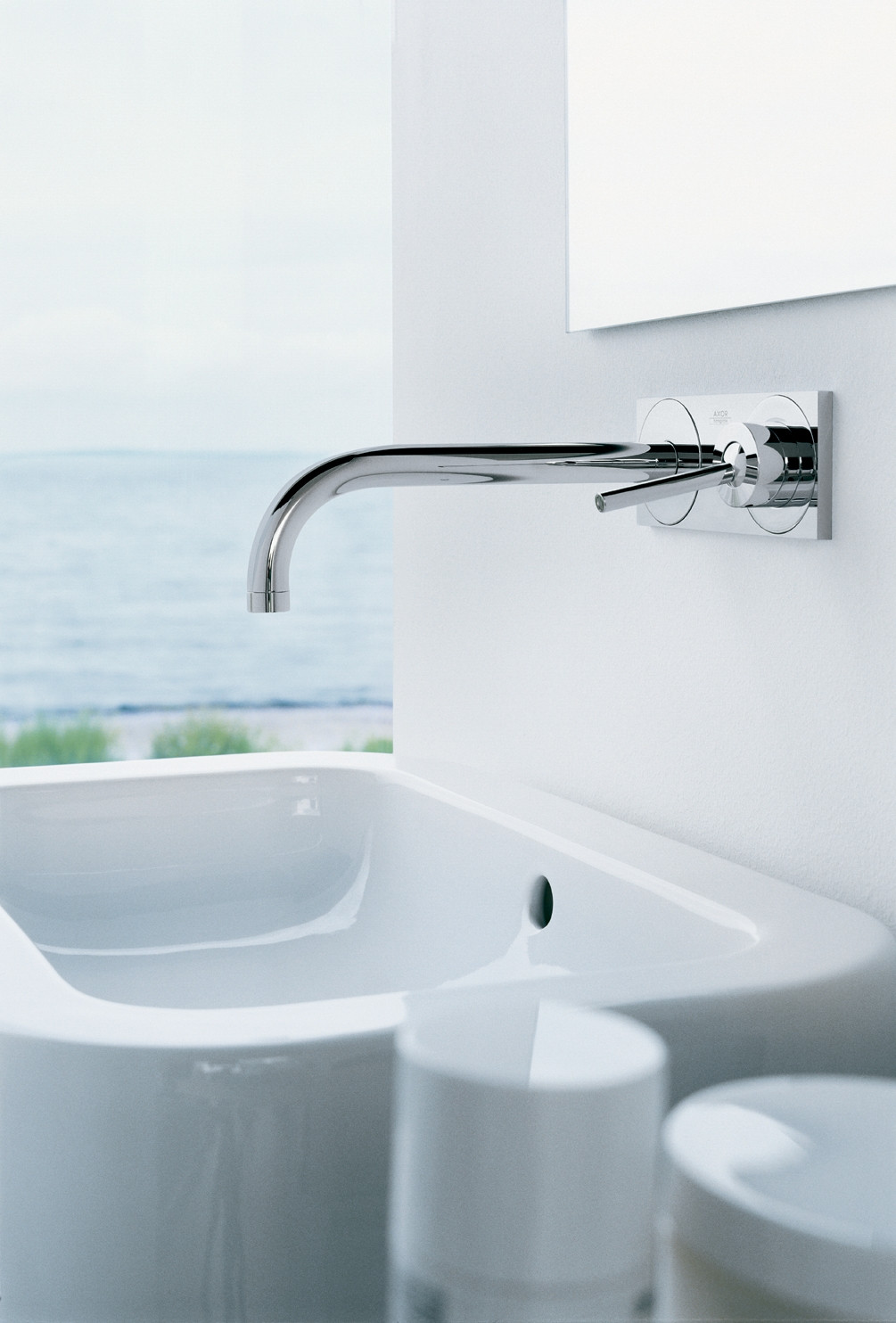 Bath4All - Hansgrohe 38117001 Chrome Axor Uno 2 Bathroom Faucet Wall ...