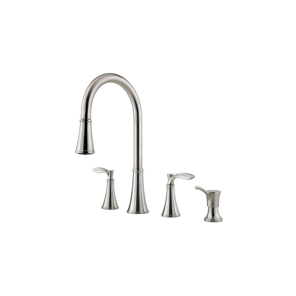 Pfister F5314PAS Stainless Steel Petaluma Pullout Spray Professional  Kitchen Faucet