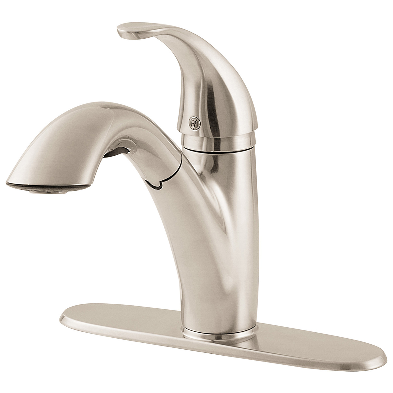 Kitchen Faucet No Water: Pfister GT5347SS Treviso 3 Function Pullout