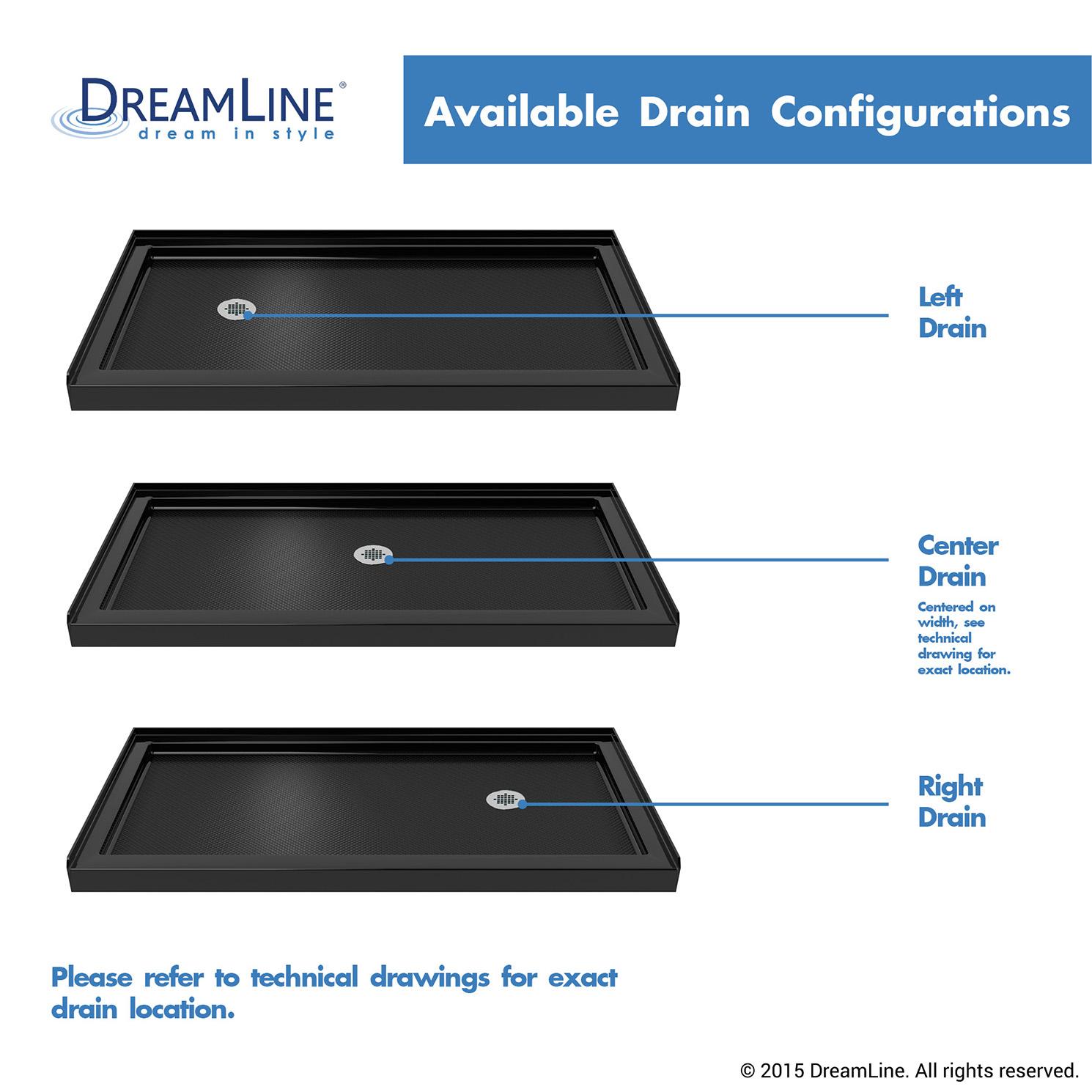 Bath4all Dreamline Dlt 1130602 88 Slimline 30 X 60 Shower Base In