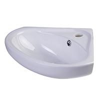 "ALFI Brand AB109 18"" White Corner Porcelain Wall Mounted Bath Sink - Image 1"