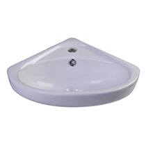 "ALFI Brand AB109 18"" White Corner Porcelain Wall Mounted Bath Sink - Image 2"