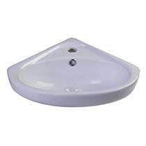"ALFI Brand AB109 18"" White Corner Porcelain Wall Mounted Bath Sink - Image 2"