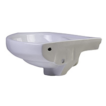 "ALFI Brand AB109 18"" White Corner Porcelain Wall Mounted Bath Sink - Image 4"