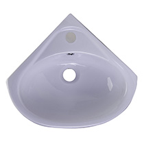 "ALFI Brand AB109 18"" White Corner Porcelain Wall Mounted Bath Sink - Image 5"