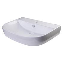 "ALFI Brand AB112 28"" White D-Bowl Porcelain Wall Mounted Bath Sink - Image 1"