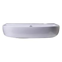 "ALFI Brand AB112 28"" White D-Bowl Porcelain Wall Mounted Bath Sink - Image 2"