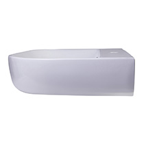 "ALFI Brand AB112 28"" White D-Bowl Porcelain Wall Mounted Bath Sink - Image 3"