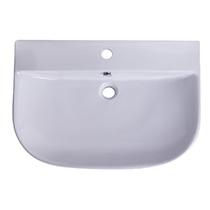 "ALFI Brand AB112 28"" White D-Bowl Porcelain Wall Mounted Bath Sink - Image 4"