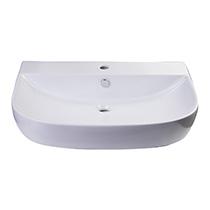 "ALFI Brand AB112 28"" White D-Bowl Porcelain Wall Mounted Bath Sink - Image 5"