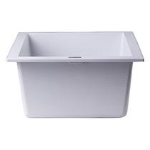 "ALFI Brand AB1720UM-W White 17"" Undermount Rectangular Granite Composite Kitchen Prep Sink - Image 3"