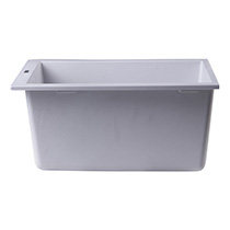 "ALFI Brand AB1720UM-W White 17"" Undermount Rectangular Granite Composite Kitchen Prep Sink - Image 4"