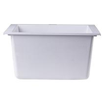 "ALFI Brand AB1720UM-W White 17"" Undermount Rectangular Granite Composite Kitchen Prep Sink - Image 5"