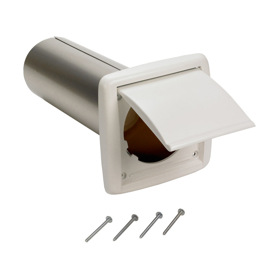 """Kitchen Exhaust Vent Wall Cap: Broan NuTone Wc650 4"""" Round Duct Wall Cap"""