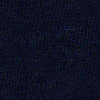 Cotton Navy Long V Glove