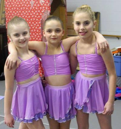 Girls Purple Dance Shorts