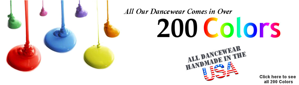 Colors that our dancewear comes in