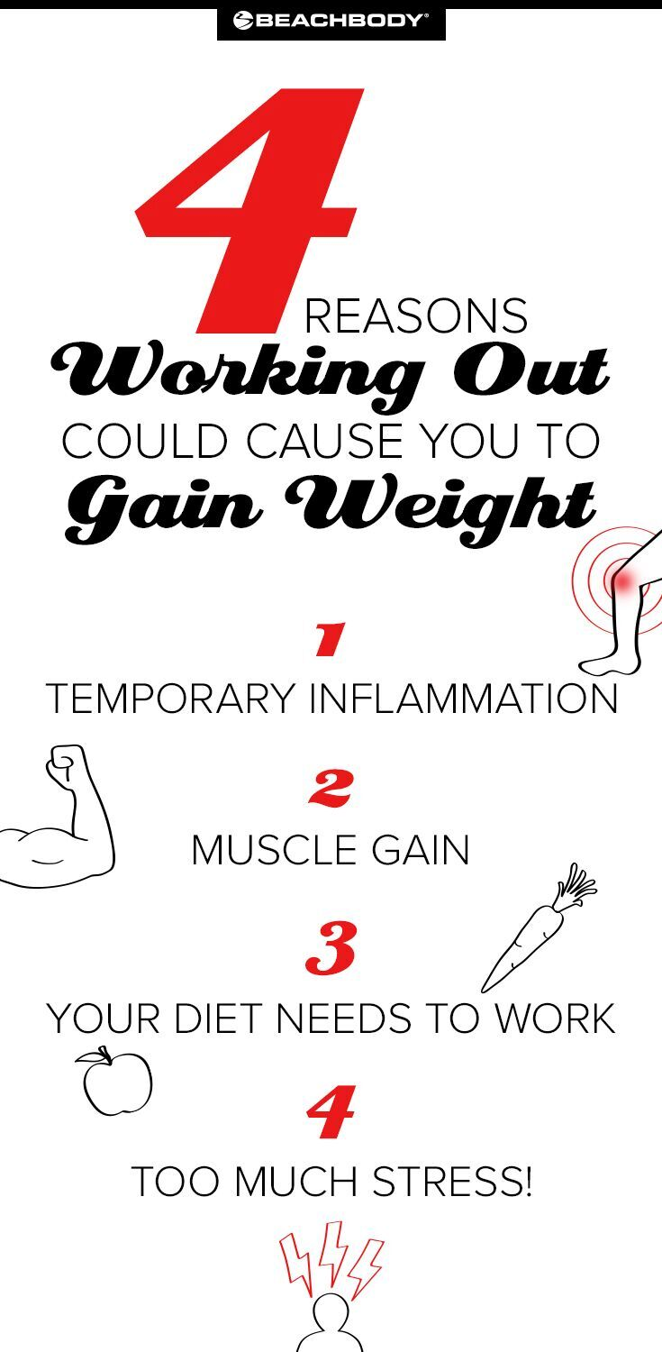 4 Reasons Why Working Out Could Cause Weight Gain
