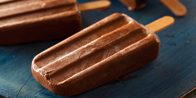 Healthy Popsicle Recipes - Chocolate Peanut Butter Popsicles