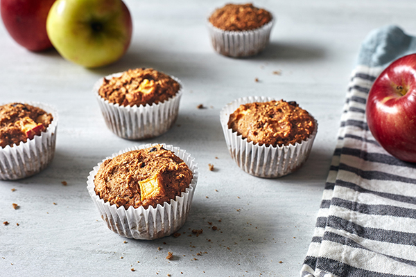 Apple Harvest Muffins, apple muffins recipe, healthy muffins