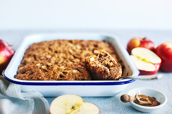 This moist, rich apple cake with raisins is the perfect dessert to welcome the arrival of Fall, featuring sweet juicy apples, raisins, and crunchy walnuts.