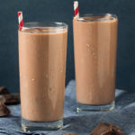 Start your day fresh with this Chocolate Mocha Shakeology smoothie featuring unsweetened cocoa powder, vanilla extract, and creamy Cafe Latte Shakeology.
