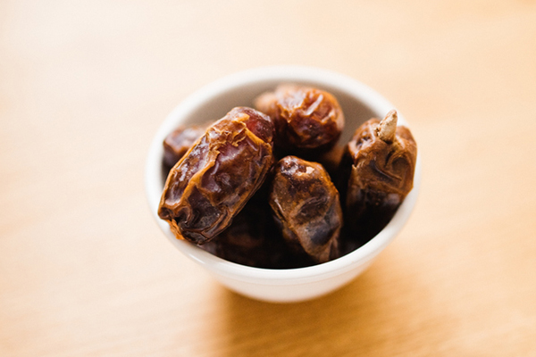 Medjool dates in a bowl