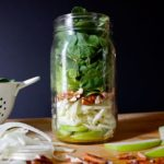 Apple, Fennel, and Arugula Salad in a Mason Jar