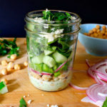 Chickpea Salad with Minty Yogurt Dressing