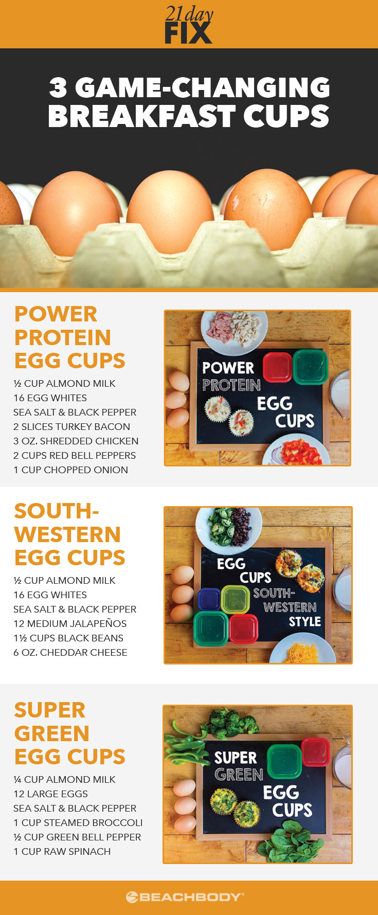 Mornings can be hectic. Whip up any of these easy breakfast (or lunch!) egg muffin recipes for 21-Day Fix-approved nutrition on-the-go!