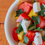 Cucumber Watermelon and Mango Salad with Mint
