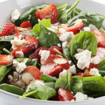 Strawberry Salad with Spinach and Feta