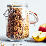 Apples and cinnamon are classic fall flavors, and they both come together to create this granola recipe. It's crunchy, sweet, and perfectly spiced.