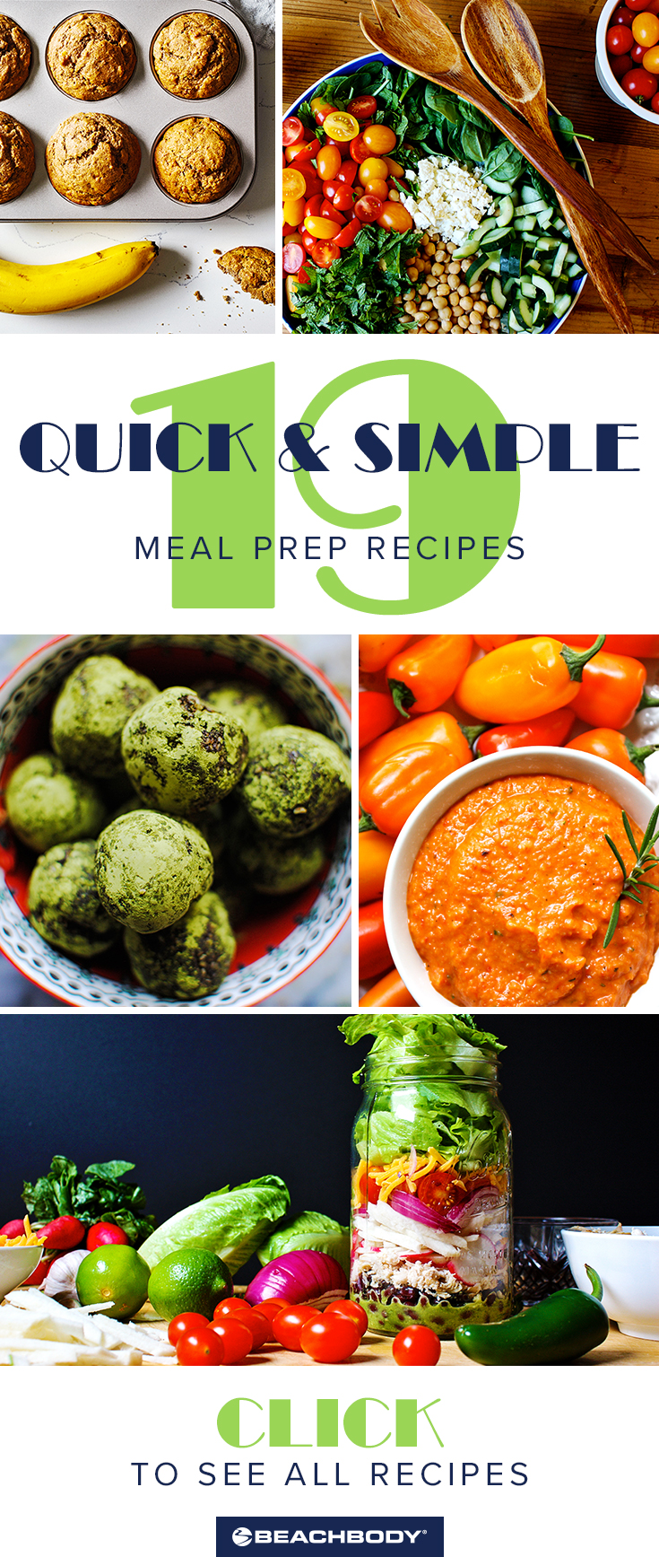 Check out these 19 simple meal prep recipes! Perfect for staying healthy even when you're busy.
