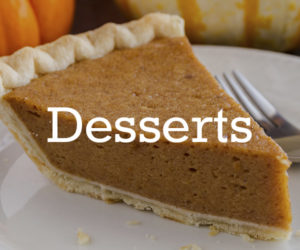 Dessert Recipes Thanksgiving Guide