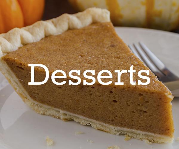 Dessert Recipes Thanksgiving Guide