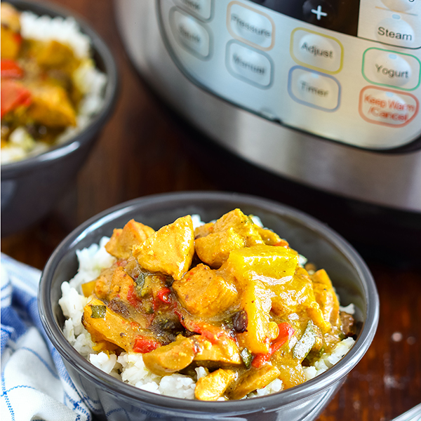 Curry chicken in an Instant Pot