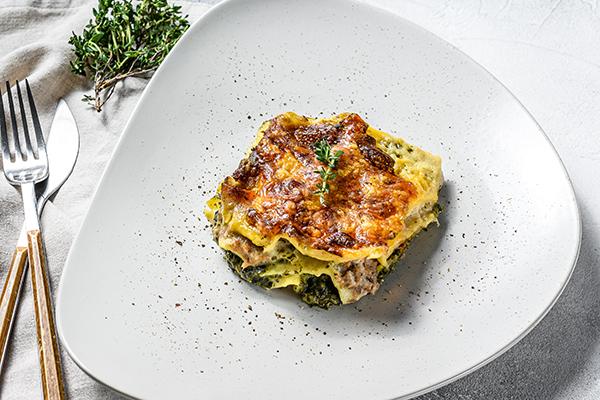 Veggie Lasagna on a plate