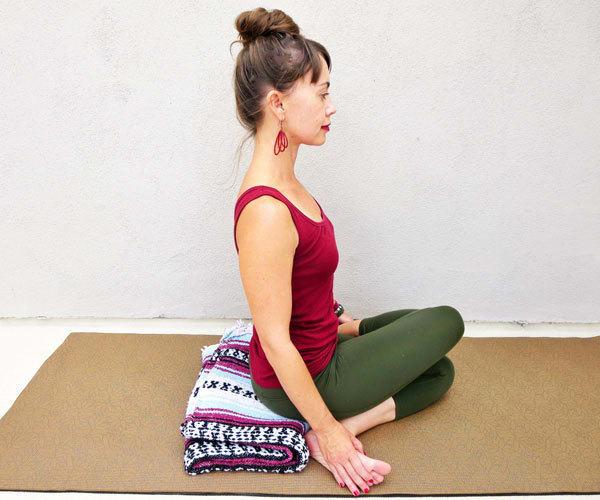 Yoga Poses for Back Pain - Cow Face Pose - Gomukhasana