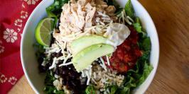 Black Bean and Chicken Burrito Bowl Recipe