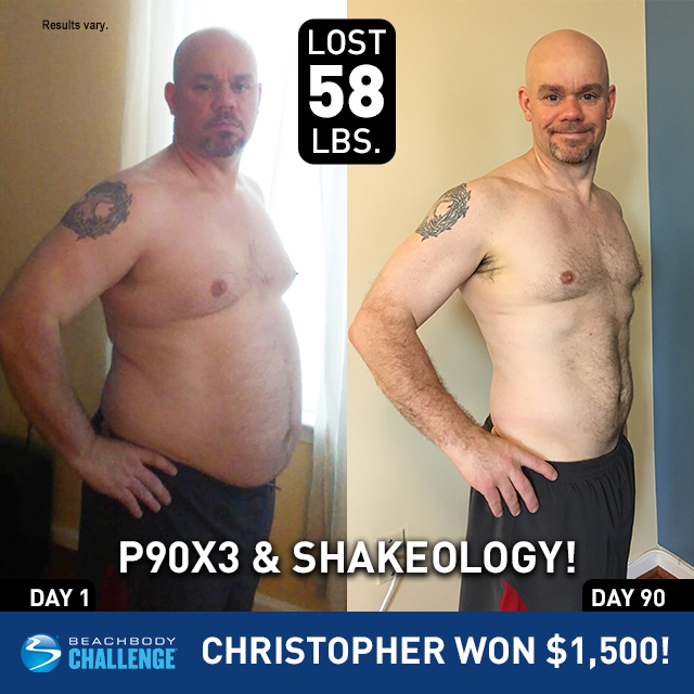 P90X3 and Shakeology Men's Results