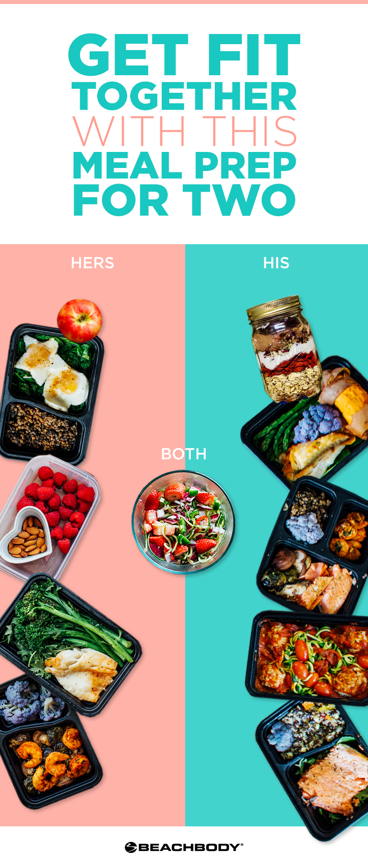 Check out this great meal prep for two! simple meal prep recipes! Perfect for staying healthy even when you're busy. #mealprep #mealpreps #mealplanning #21dayfix #21dayfixideas #21dayfixrecipes #21dayfixmealprep #couplesmealprep
