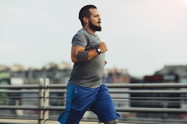 Man going for a run