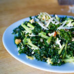 kale and broccoli matchstick salad